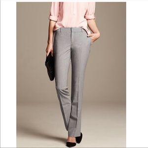 Banana Republic Martin Trousers In Grey Wool